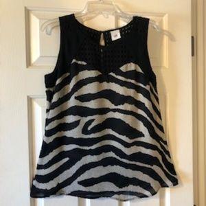 CAbi Tivoli Zebra Print Blouse